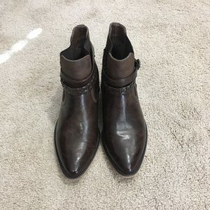 MAURICES | Breana Buckle Ankle Boots Brown Sz 9M